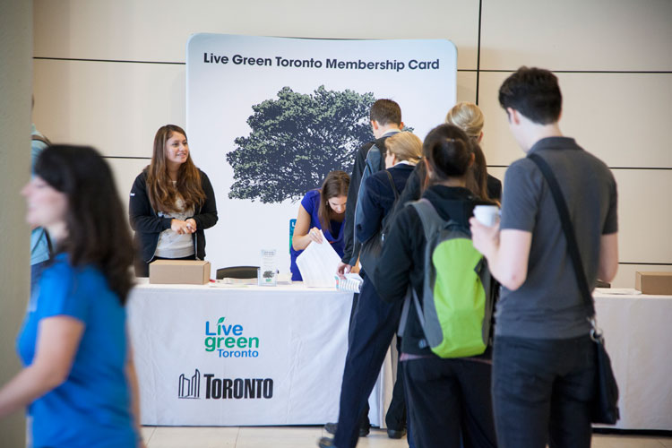 Live Green Toronto sign-up