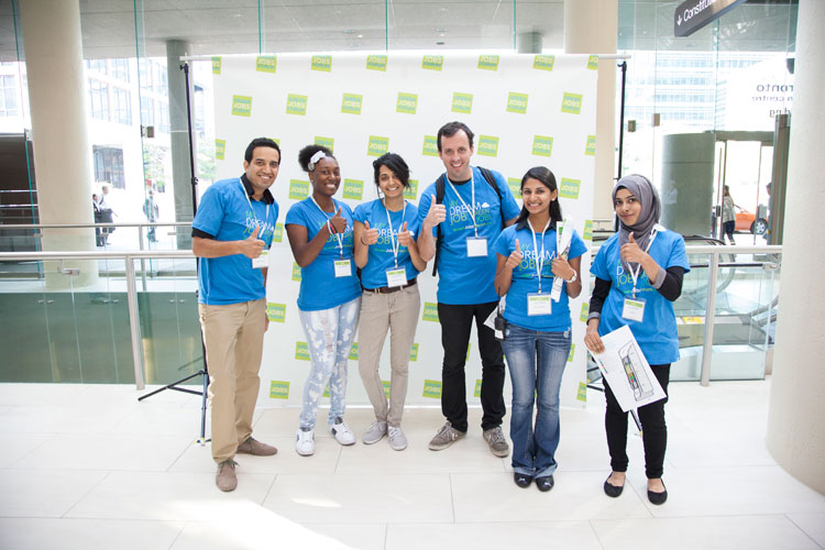 Volunteers at the Green Jobs Forum
